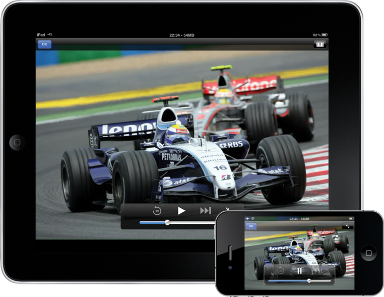 Diffusez une source video en direct sur iPhone, iPad, iPod Touch et smartphone/tablette Android