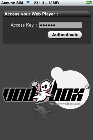 Protegez l'acces a votre serveur de streaming video VODOBOX iPhone Server par un mot de passe