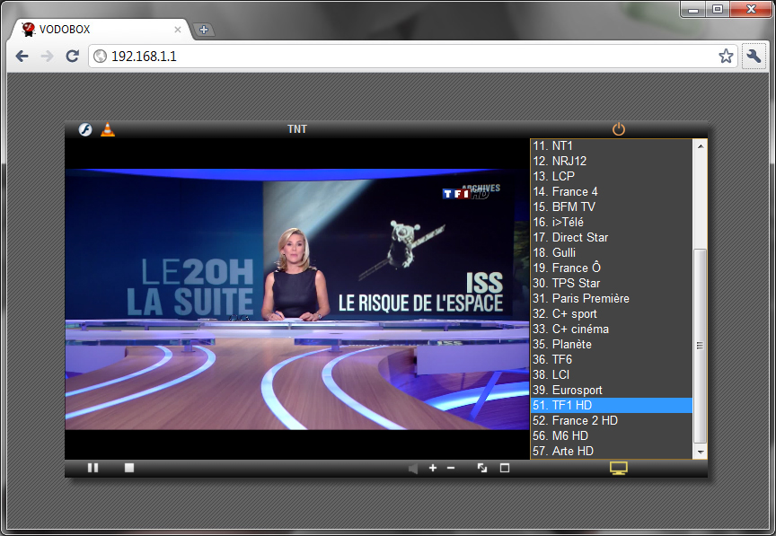 Consultez les programmes video de votre serveur de streaming VODOBOX Flash Server